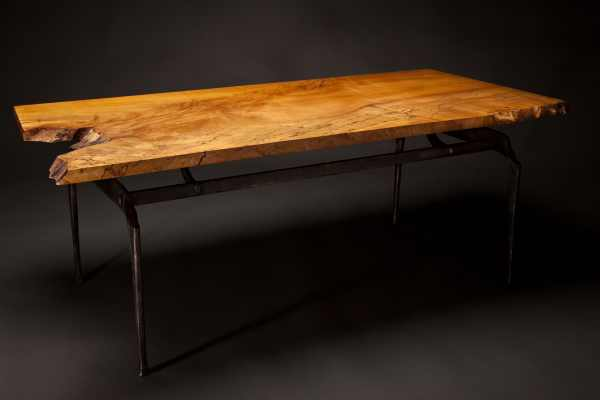 Spalted Maple and Iron Coffee Table - Rising Sun Forge